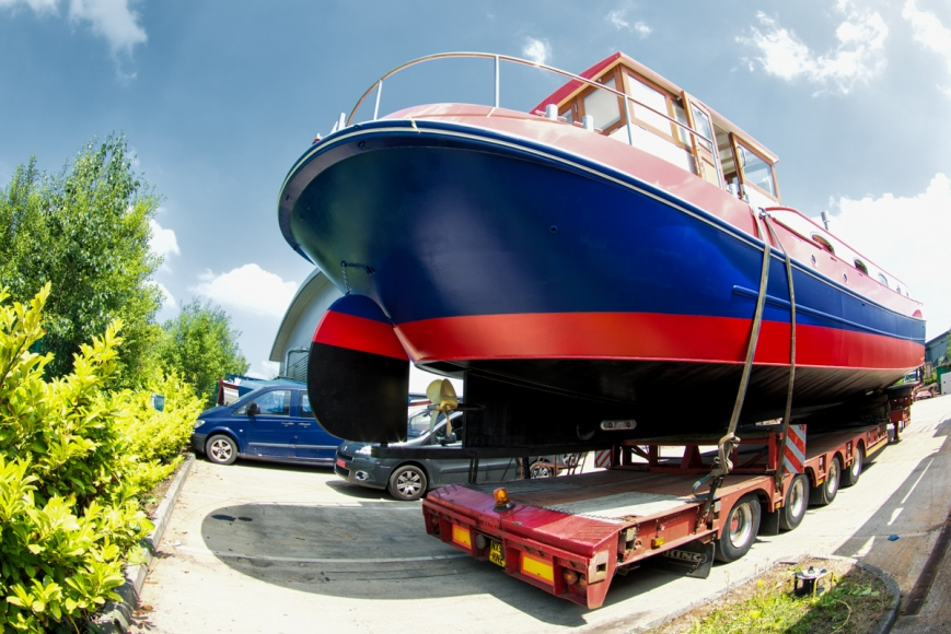 Siga Siga, newly completed, waits in Piper's lot before her launch.