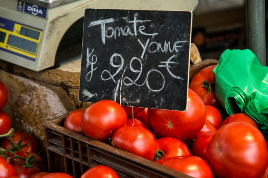 Local tomatoes from the Yonne Valley